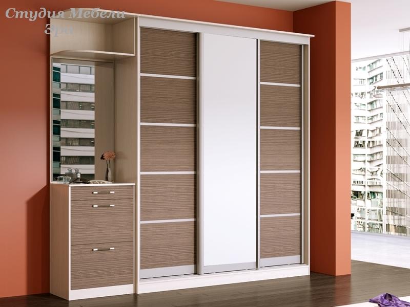 Прихожая со шкафом купе московская фабрика шкафов: шкафы куп.