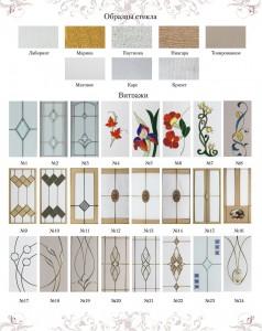 Образцы стекол