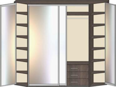 Комбинированные шкафы-купе