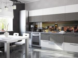 Кухня в ПВХ пленке №04