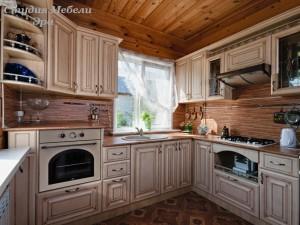 Кухня в ПВХ пленке №13