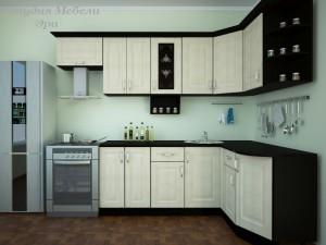 Кухня в ПВХ пленке №24