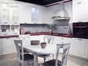 Кухня в ПВХ пленке №43