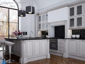 Кухня с патиной №14