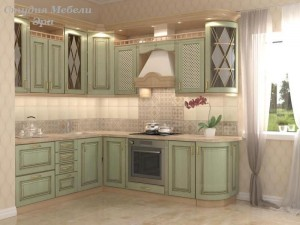 Кухня с патиной №19
