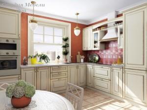 Кухня с патиной №24