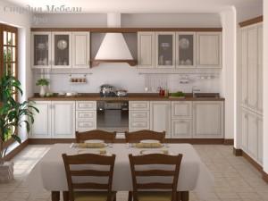 Кухня с патиной №30