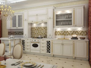 Кухня с патиной №43