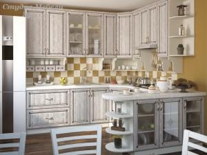 Кухня с патиной №46