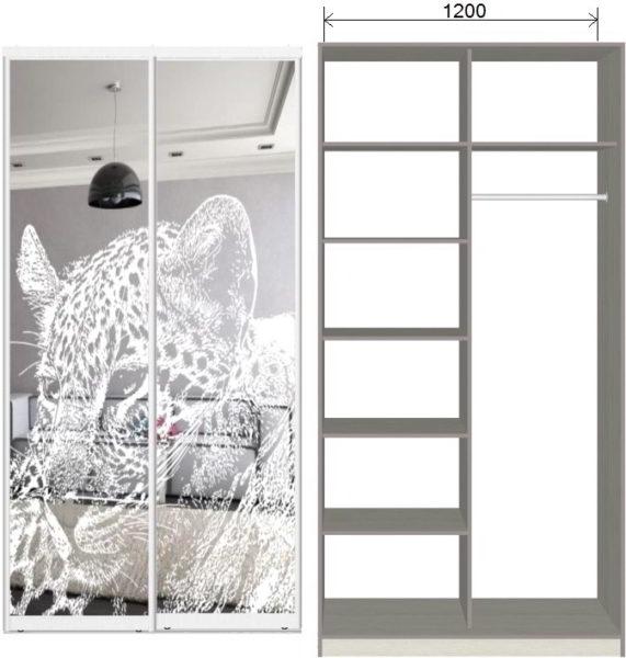Шкафы с рисунком на зеркале на заказ