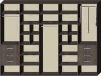 Четырехдверные шкафы купе на заказ