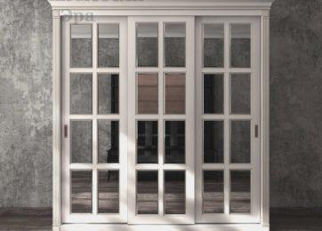 Шкафы купе в классическом стиле с зеркалом